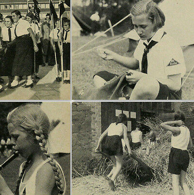 Jungmadel BDM Yearbook 1937 photos, calendar, reports for German Madel Germany