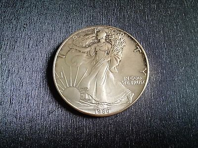 1986 1oz USA American US Silver Bullion Eagle Coin