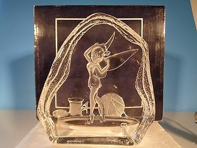 DISNEY TINKER BELL ARRIBAS Bros Crystal SCULPTURED Paperweight RARE Figurine