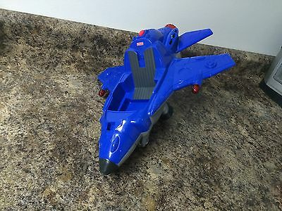 Rescue Heroes Voice Tech Rescue Jet Rare plane lights & sound blue/gray vehicle