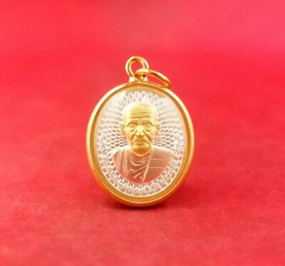 LP Toh Thai Amulet Rich Wealth Gold Micron Pendant Wat Raklang Temple