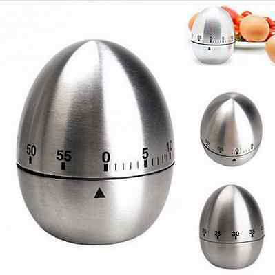 Egg Kitchen Cooking Countdown 60 Minutes Mechanical Alarm Stainless Timer Fashio