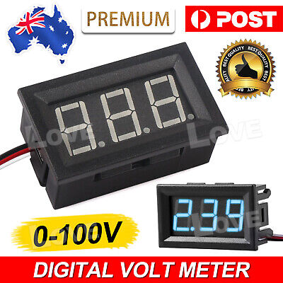 LED Display Digital Voltmeter 2.5-30V Car Gauge Voltage Volt Panel Meter 3 Wire