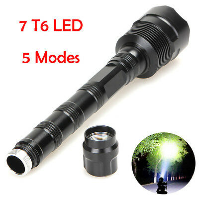 CREE XM-L T6 5 x LED 7-Mode 35000LM 18650 Outdoor Powerful Flashlight Torch Lamp