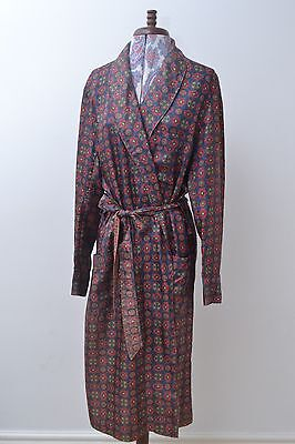 Seriously Dapper Vintage Mens Patterned Smoking Jacket / Robe by St Michael med