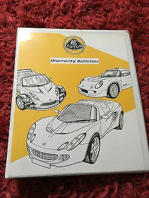 LOTUS Warranty Bulletins Manual Handbook