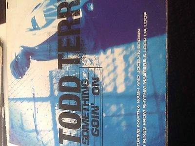"""Todd Terry- Something Going On 12"""" Vinyl Feat Martha Wash Jocelyn Brown 1997"""