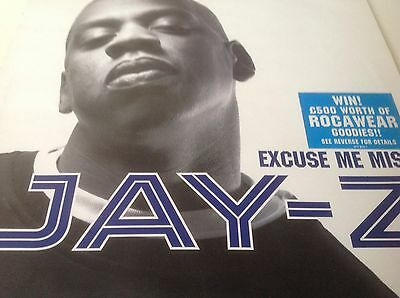 "Jay-Z - Excuse Me Miss 12"" Vinyl Feat Pharrell Williams/Heart Of The City Hiphop"