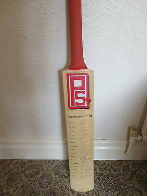 ✪ Signed Lancashire County Cricket Club bat – Including Andrew Flintoff ✪