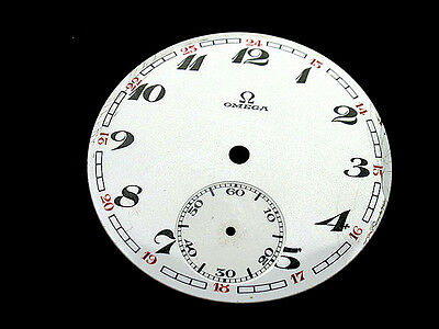 OMEGA #7 , ORIGINAL ENAMEL DIAL FOR WATCHES,1930's