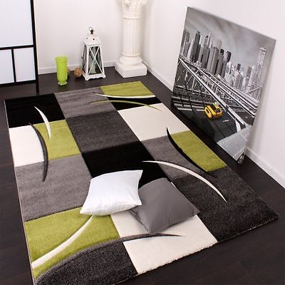 Large Medium Small  Modern Rugs Grey Green Quality Rugs Living Area Mats Carpets