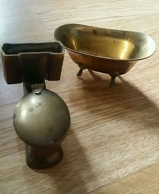 brass small bath and toilet