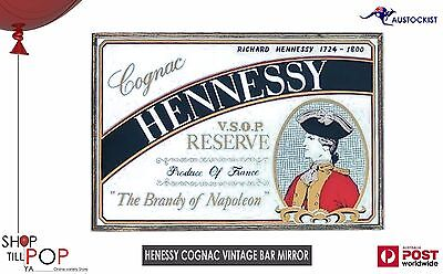 "Henessy Cognac  V.S.O.P. Reserve  Vintage Bar Mirror 1960's Exc' Co' 19""x12"""