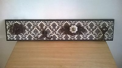 4 Wall/Coat Hooks Rack Shabby French Chic Decorative Baroque  Rustic Vintage