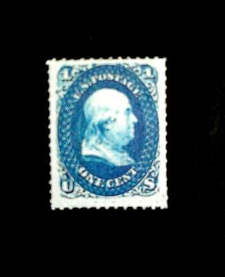 USA 1860 Z Grill 1c blue,Benjamin Franklin Cv 3,000,000,Replica