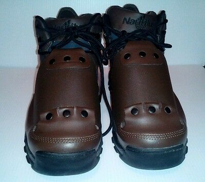 Nautilus Brown Steel toe safety boots men  size13w