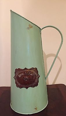 New Green Metal Antique Style Watering Can- English Rose Garden- Decorative
