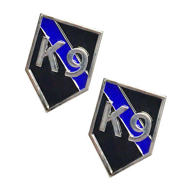 Thin Blue Line Police Sheriff Law Enforcement K9 Canine Dog Lapel Pins