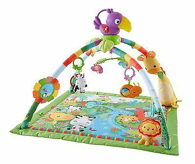 Fisher-Price Rainforest Music and Lights Deluxe Newborn Baby Gym Play Activity