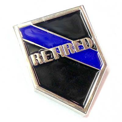 Thin Blue Line RETIRED Enforcement Police Sheriff Lapel Pin