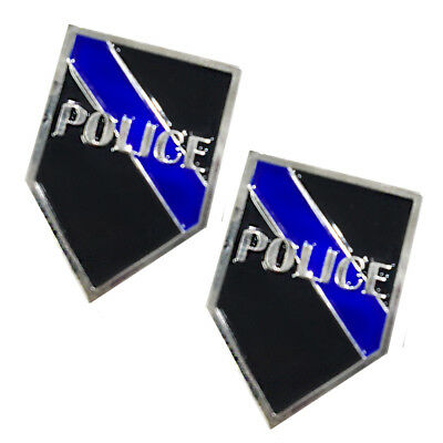 Thin Blue Line POLICE Law Enforcement Police Lapel Pin