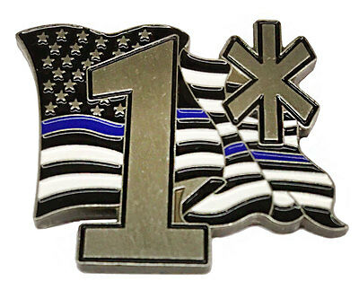 Police Sheriff 1* One Ass To Risk Thin Blue Line Law Enforcement Flag Lapel Pin