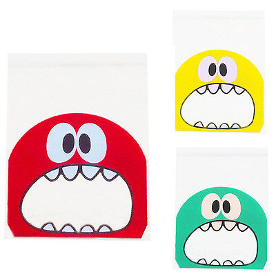 50pcs/lot cute little monster Candy cookie Bag Plastic Biscuit Packaging Bag  F6