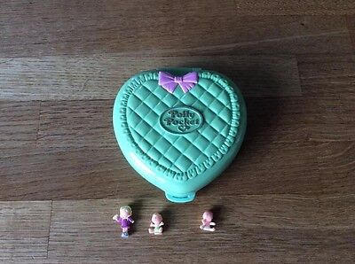 Vintage Polly Pocket Bluebird Babytime Fun Quilted Compact 1994 With Figure