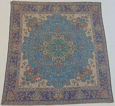Persian Woven Fine Art Silk Termeh Tapestry Rug Style Decorative Wall Hanging