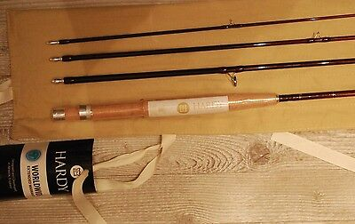 """HARDY Red Classic  LRH  L/wt 8'6""""   4 wt. #4 PC FLY ROD"""