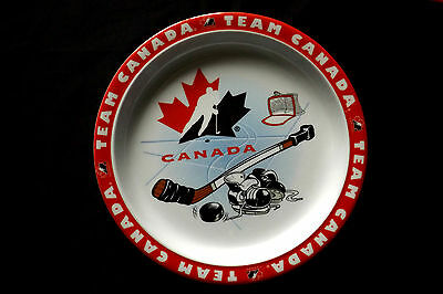 6 Pcs. Team Canada Hockey - 3 Lunch Plates and 3 Bowls - Melamine Dishes