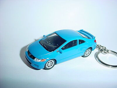 NEW 3D BLUE HONDA CIVIC Si CUSTOM KEYCHAIN keyring key DOHC vTEC TYPE R BLING