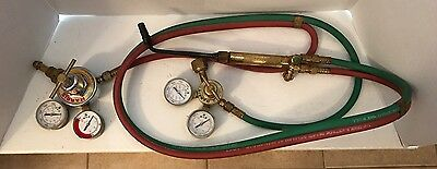 Harris Lab Torch Gas/Oxygen Model 46 Gauges with 2 hoses and 2 HarrisGauges (GT)