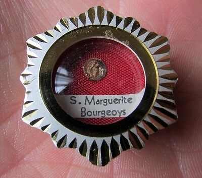 Vintage Blessed Marguerite Bourgeoys Relic In Original Case Mint Condition