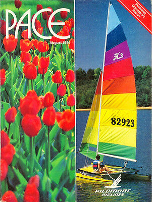 PIEDMONT AIRLINES - Inflight Magazine - August 1986 Pace Defunct US Airline