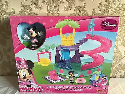 Brand New In Box - Minnie Mouse Polka Dot Pool Party - Fisher Price