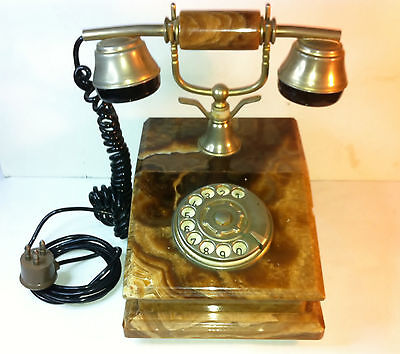 telefono in marmo-onice vintage anni 60