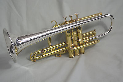 1946 H.N. WHITE-KING MASTER SILVERTONE MODEL 1065 PRO Bb/A CORNET~STERLING BELL