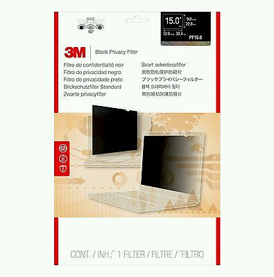 3M Black Privacy Filter for Laptop/Desktops 15in Standard 4:3 PF15.0 C3B