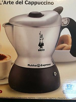 Bialetti Mukka Express Cappuccino Maker (Silver with Black Base)
