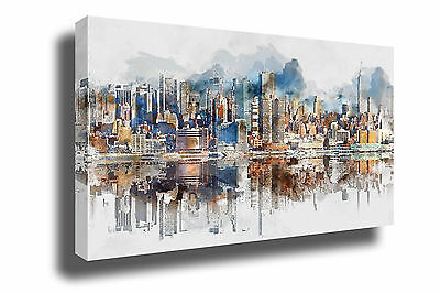 New York City Abstract Canvas Print Framed Photo Picture Wall Artwork Decor