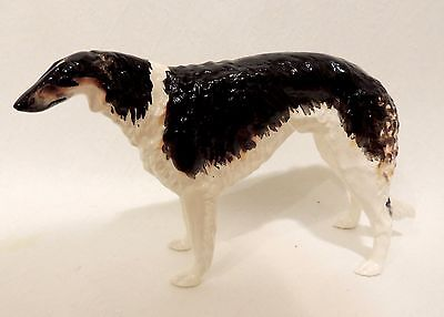 Russian Borzoi Black porcelain figurine Author's. Very RARE Limited edition!