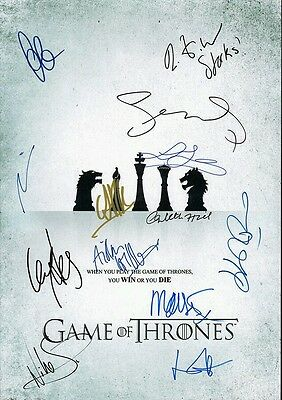 Game Of Thrones *signed Printed*  Script  Screenplay Pilot Episode