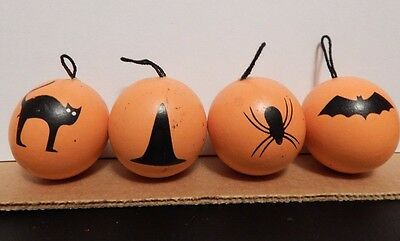 Vintage Halloween Ornaments - set of 4