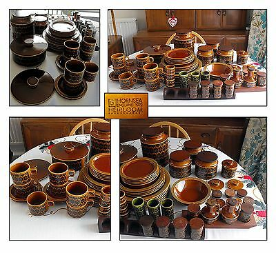 Collection of Vintage Brown Hornsea Pottery Items