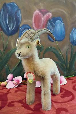 STEIFF ROCKY CAPRICORN 22 cm look for new home all Ids 1965-67 VGC