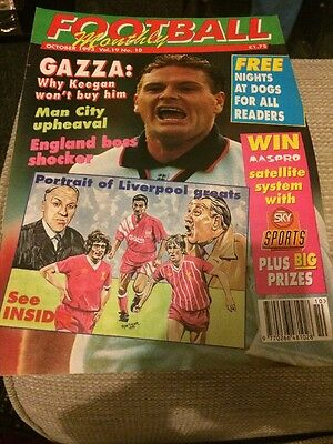Football Monthly October 1993 Vol 19 No 10 Paul 'Gazza' Gascoigne