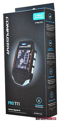 Compustar PRO T11 3-Mile Range Pager Kit 2-Way Remote Kit Only Comp RF-P2WT11-SS