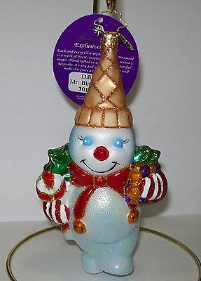 Radko Mr Bingle Snowman Glass Christmas Ornament Collectible New Orleans Icon