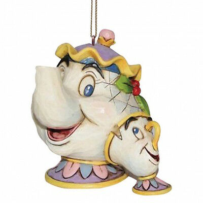 Disney Traditions A21431 Mrs Potts Set Of 3 Hanging Ornament Set New and Boxed